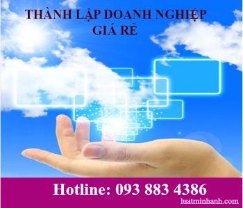 Dịch vụ thành lập doanh nghiệp tại hà nội giá rẻ